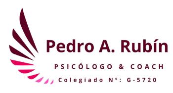 Pedro Rubín. Psicólogo & Coach